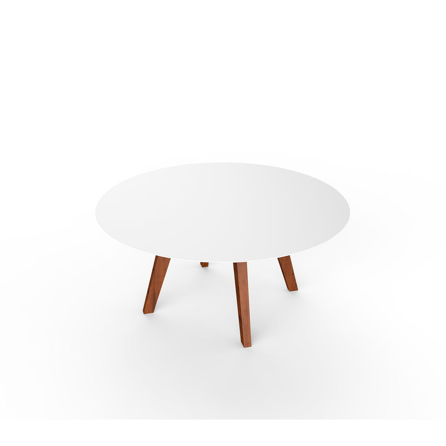 Slim Lounge Table Wood - Round