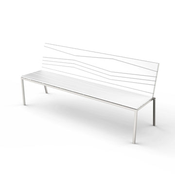 Bandoline Bench with Backrest