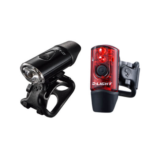 Flashlights D-LIGHT CG-214WR Front & Rear Set
