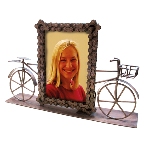Bike Chain Photo Frame with Bike stand.  50% OFF