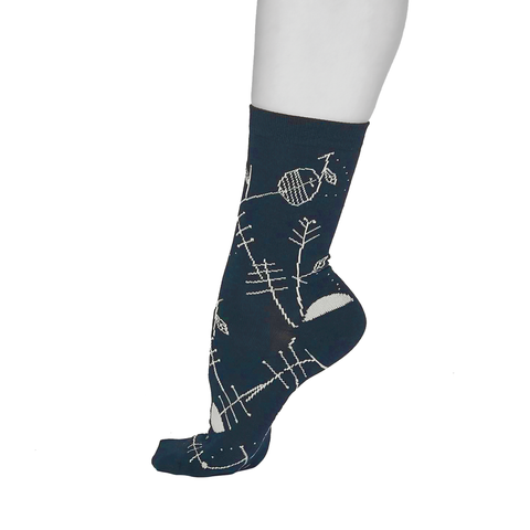 Super soft bamboo and organic cotton socks - Midnight Blue (size 4-8)