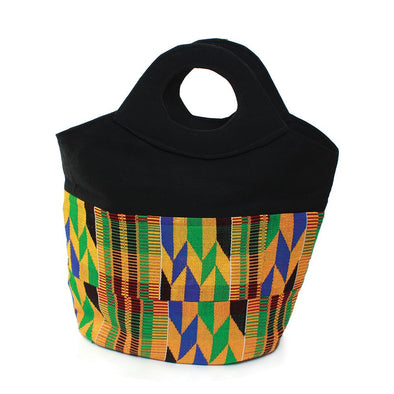 Authentic Traditional Kente Cloth Tote