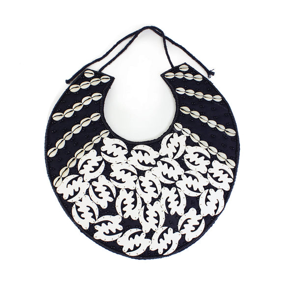 Gye Nyame Cowrie Shell Breastplate Necklace