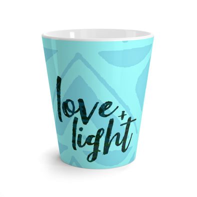 Blu Love & Light Latte mug