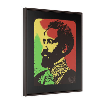 Haile Selassie I Vertical Framed Premium Gallery Wrap Canvas