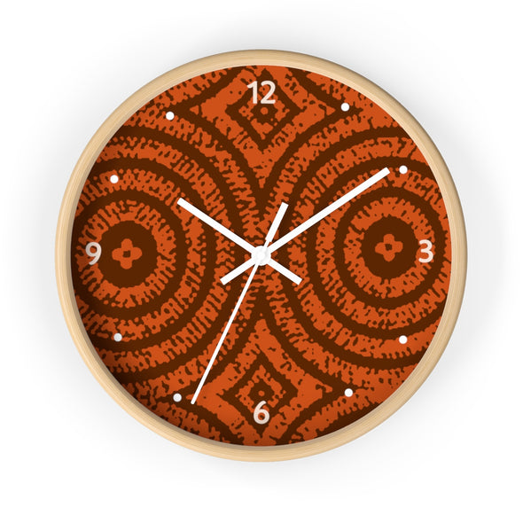 Orange Print Wall clock