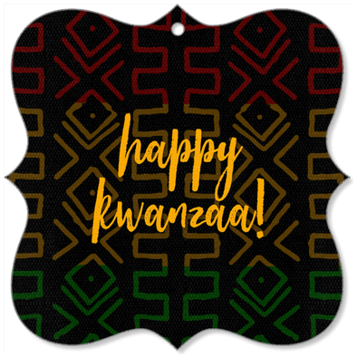 Happy Kwanzaa Canvas Ornaments