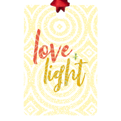 Love & Light Metal Ornaments