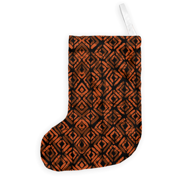 Rustic African Holiday Stocking