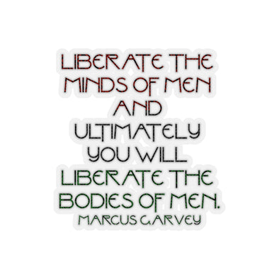 Marcus Garvey Liberate the Minds Kiss-Cut Stickers