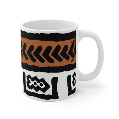 Brown Fresh Prints White Ceramic Mug