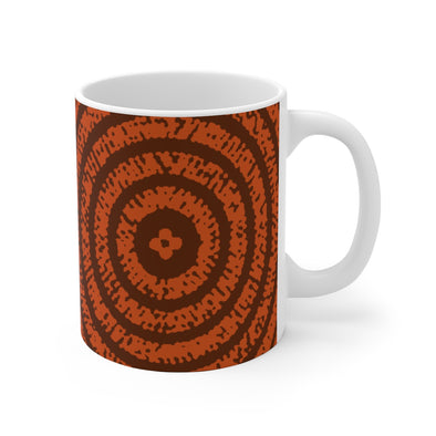 Orange Prints White Ceramic Mug