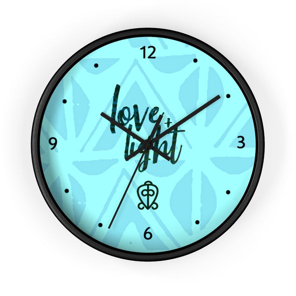Blue Love & Light Wall clock