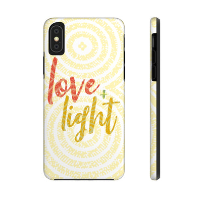 Love & Light Yellow Case Mate Tough Phone Cases