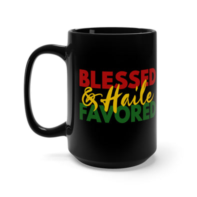 Blessed & Haile Favored Black Mug 15oz