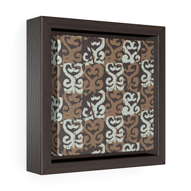 Sankofa Square Framed Premium Gallery Wrap Canvas