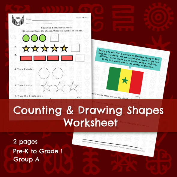 Counting & Drawing Shapes Worksheet 1: Sides • Digital Download