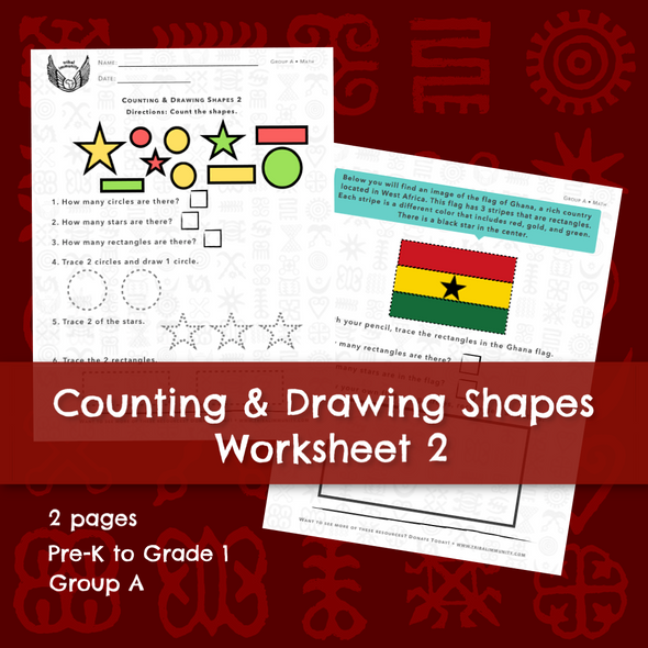 Copy of Counting & Drawing Shapes Worksheet 2 • Digital Download