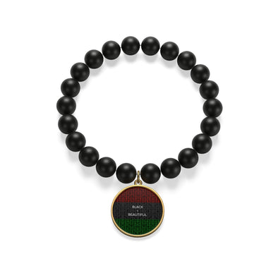 Black & Beautiful Matte Onyx Bracelet
