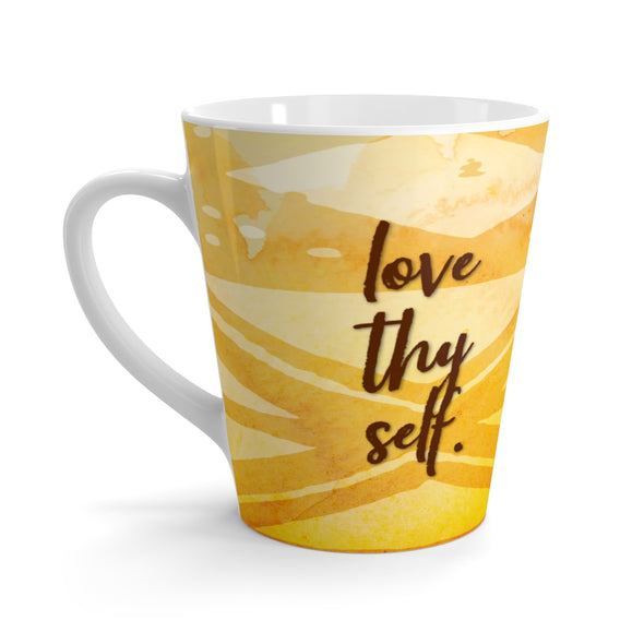 Love Thy Self Latte mug
