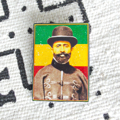 Haile Selassie in England Pin
