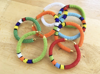 Set of Zulu Clip Beaded Bangles