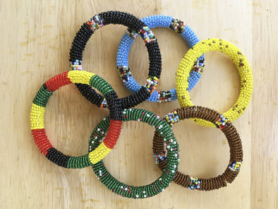 Set of Maasai Beaded Bangles