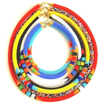 Colorful Zulu Beaded Necklaces