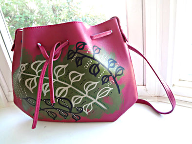 Jina Handpainted Drawstring Satchel