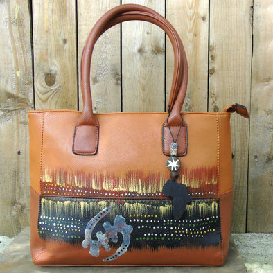 Gye Nyame Two-Tone Brown Tote