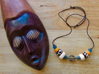 Mother Earth African Krobo Bead Necklace