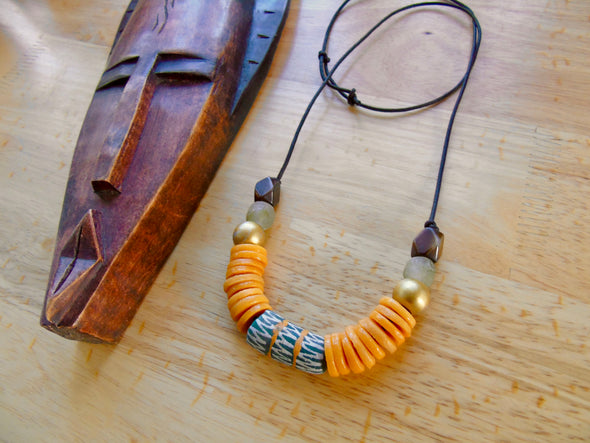 Throne African Bead Necklace