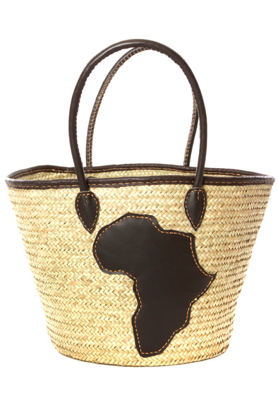 Handwoven Africa Applique Tote Bag