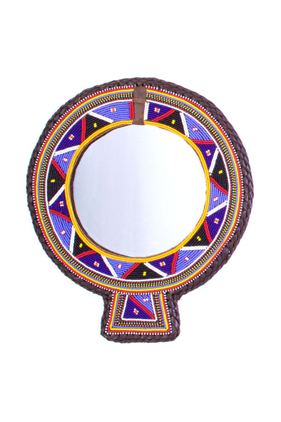 Small Maasai Wedding Necklace Mirror