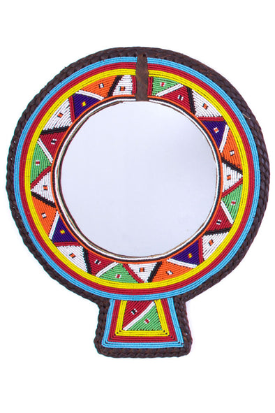 Large Maasai Wedding Necklace Mirror