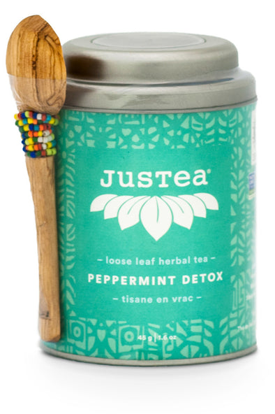 JusTea® Peppermint Detox Loose Leaf Tea