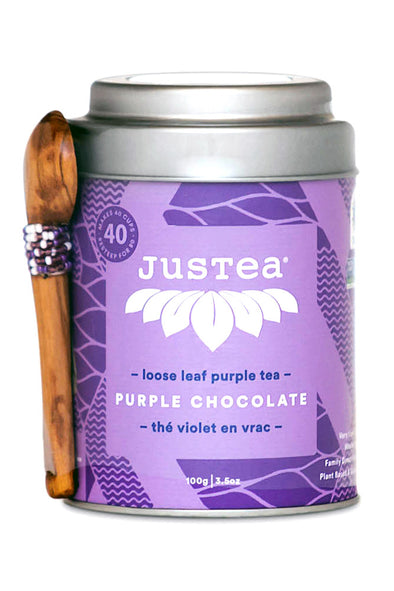 JusTea® Purple Chocolate Loose Leaf Tea