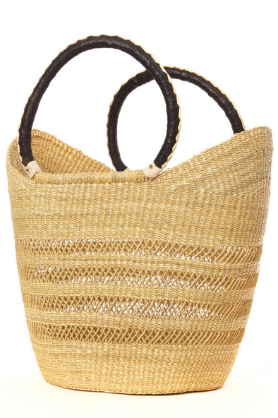 Natural Ghanian Wing Shopper with Lacework