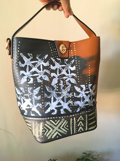 True Democracy Handpainted Bucket Handbag