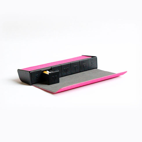 Nokabox Pill Organizer - Pink Canvas