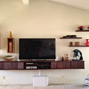 Curved Floating TV Stand Entertainment Center