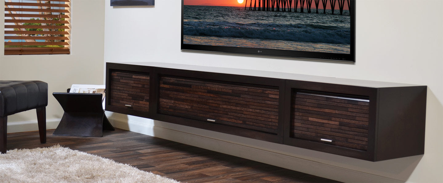 on sale 4da15 95b9d Wall Mounted Floating TV Stands - Woodwaves
