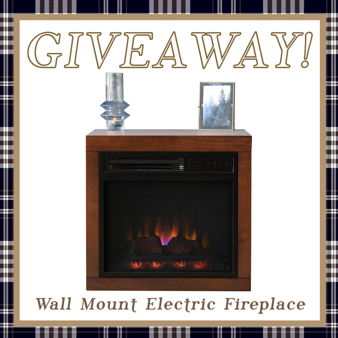 Floating Wall Mount Electric Fireplace Heater Giveaway