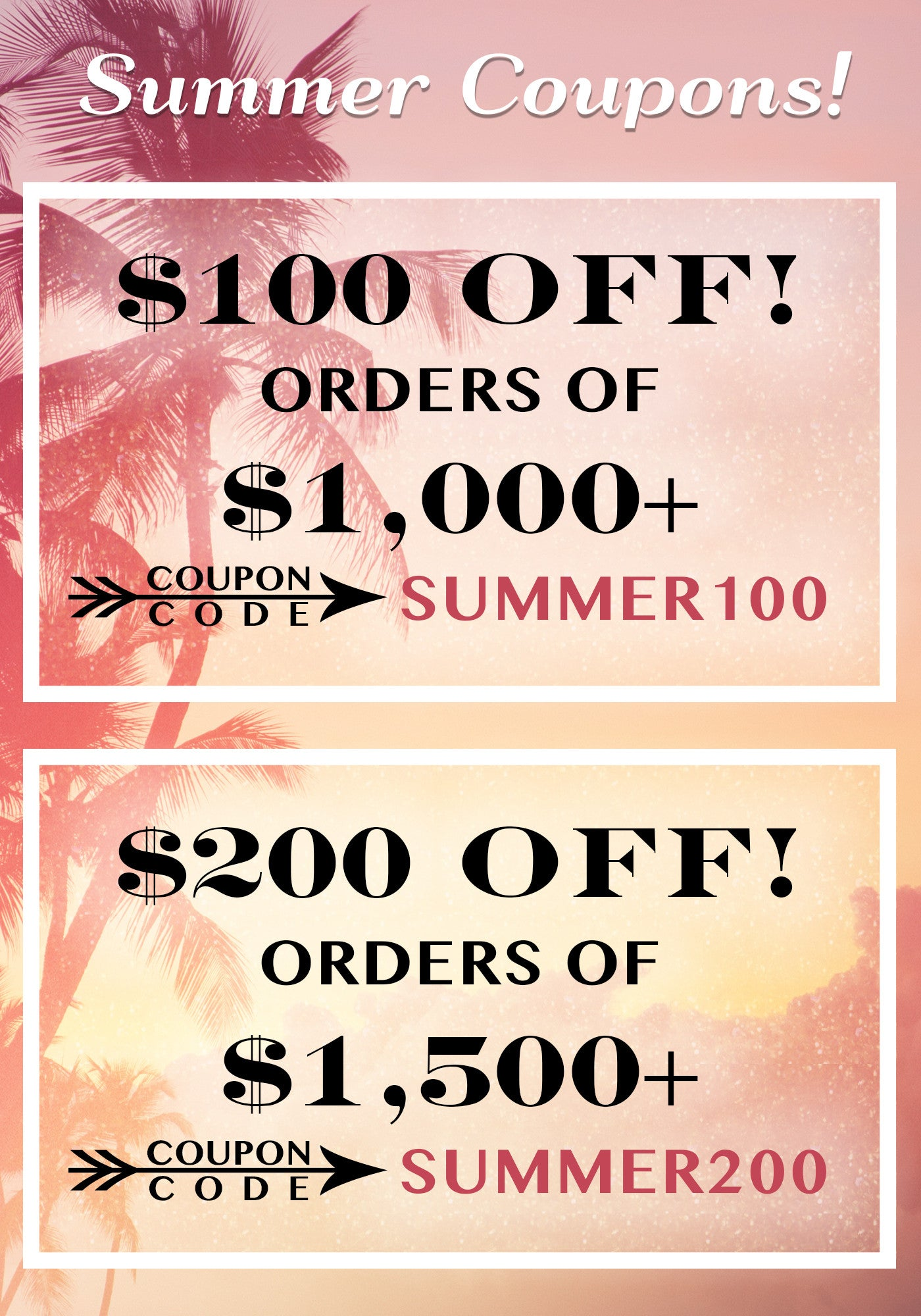 Summer Modern Furniture Decor Sale Coupons