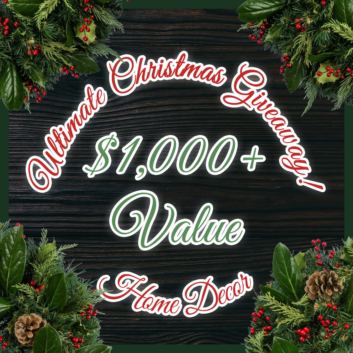 Ultimate Christmas Home Decor Furniture Giveaway