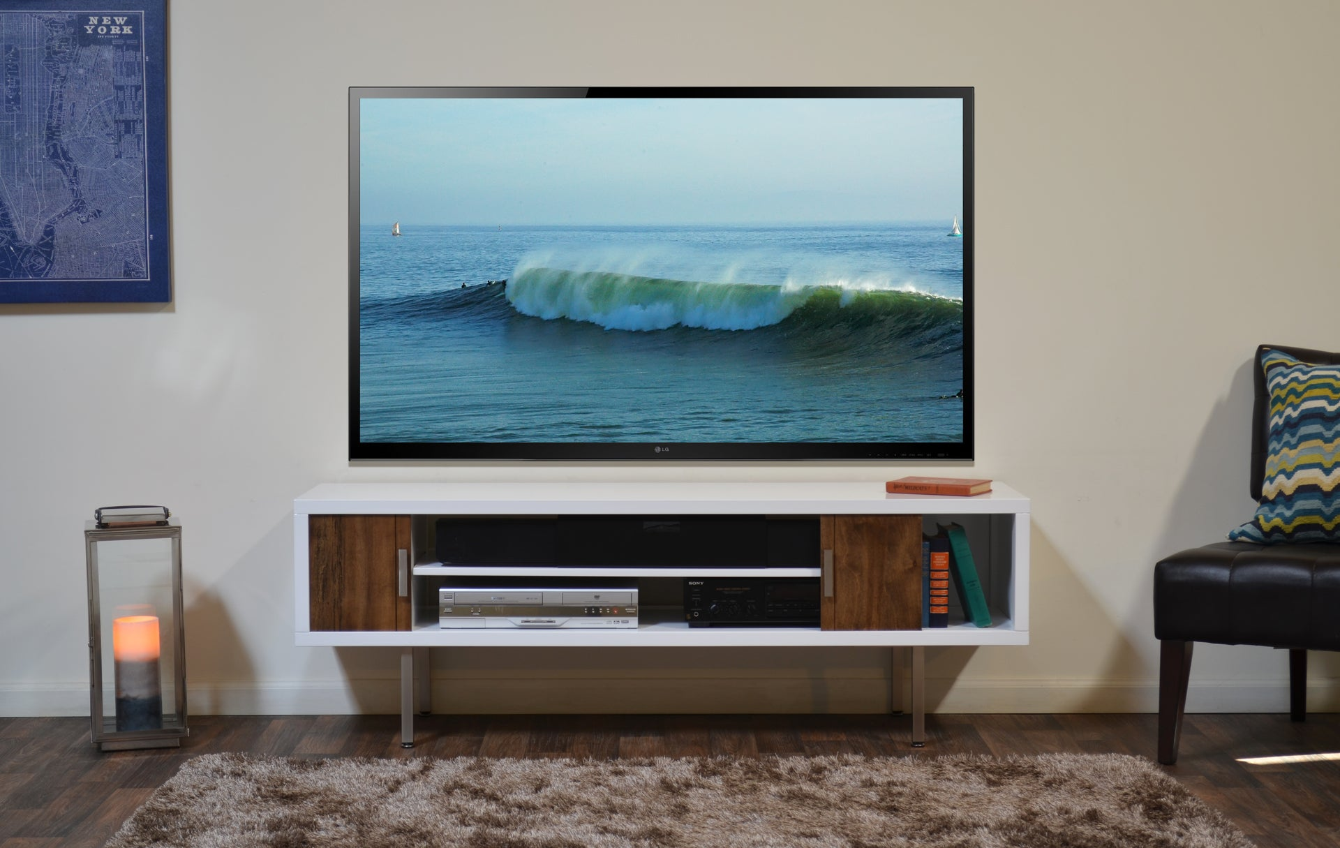 Cardiff White Tv Console Woodwaves