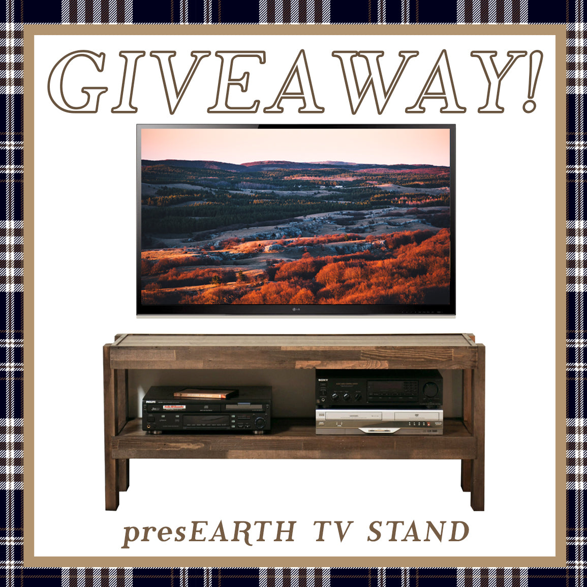 Rustic TV Stand Giveaway