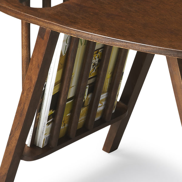 Mid Century Modern End Table With Magazine Rack Woodwaves