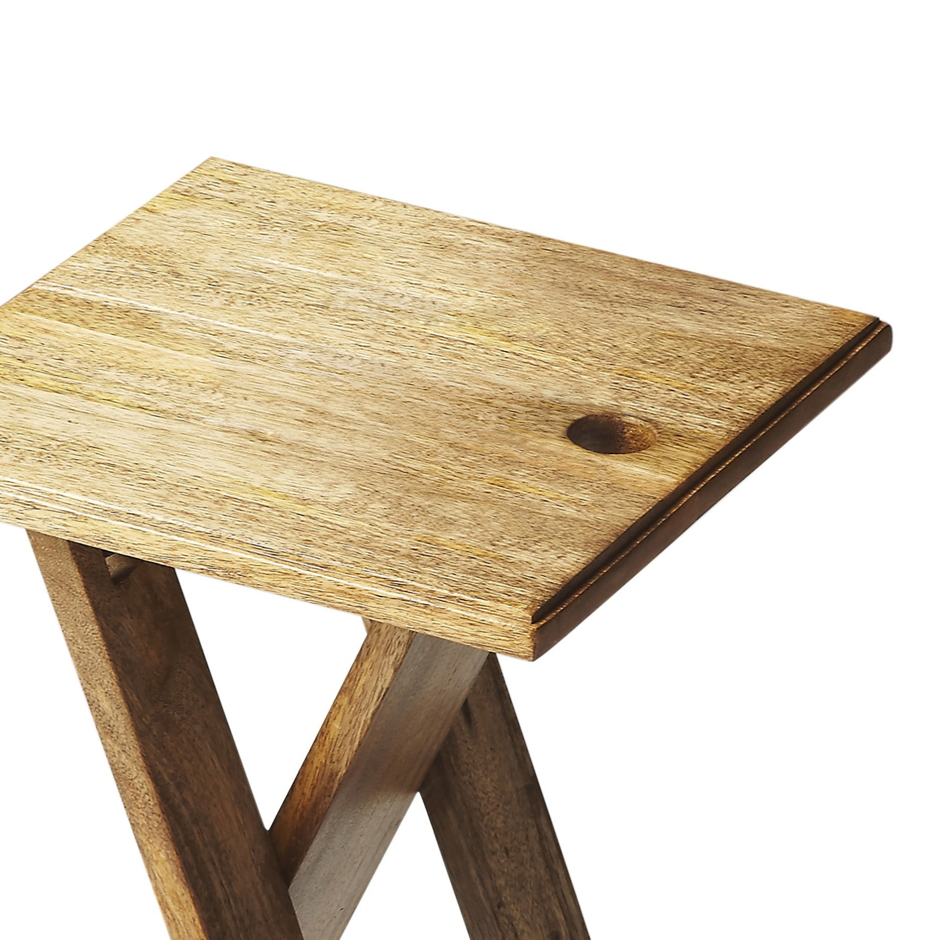 Small Natural Wood Folding Table