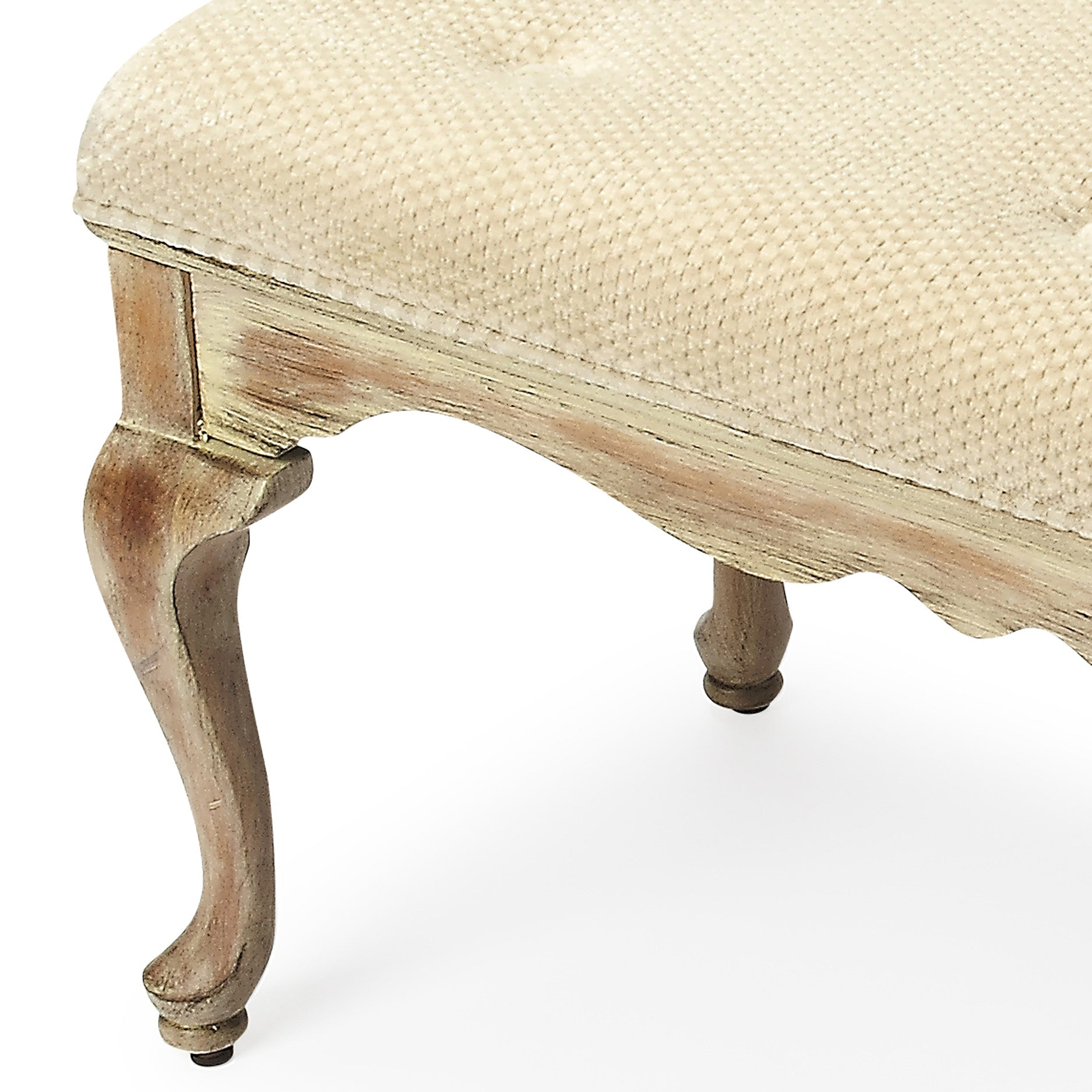 Farmhouse Cottage Upholstered Bench